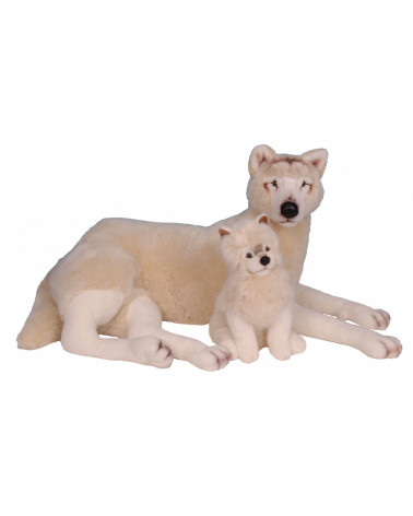 WHITE WOLF AND CUBS