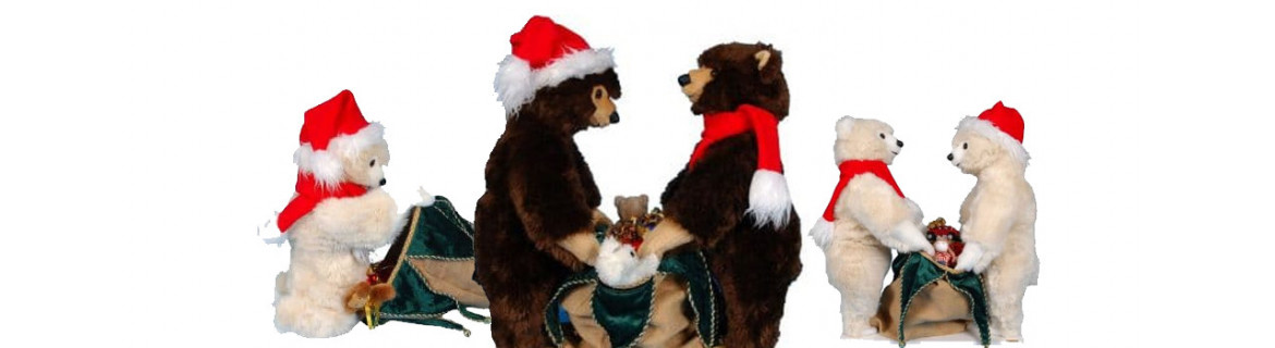 Christmas bears cub Léonard and Léonardo